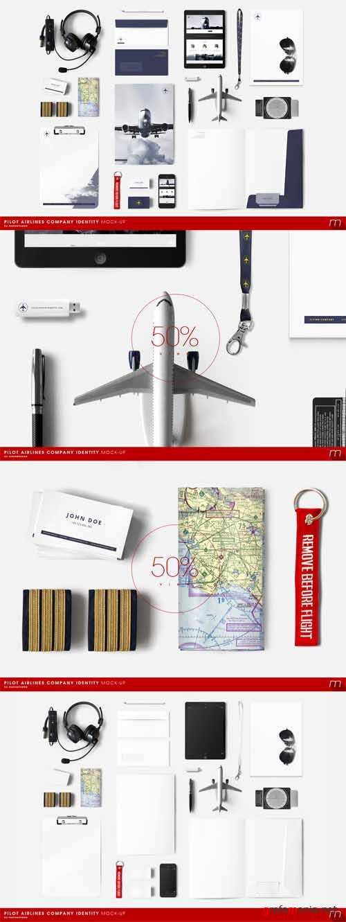 Pilot Airlines Identity Mock-up - 261754