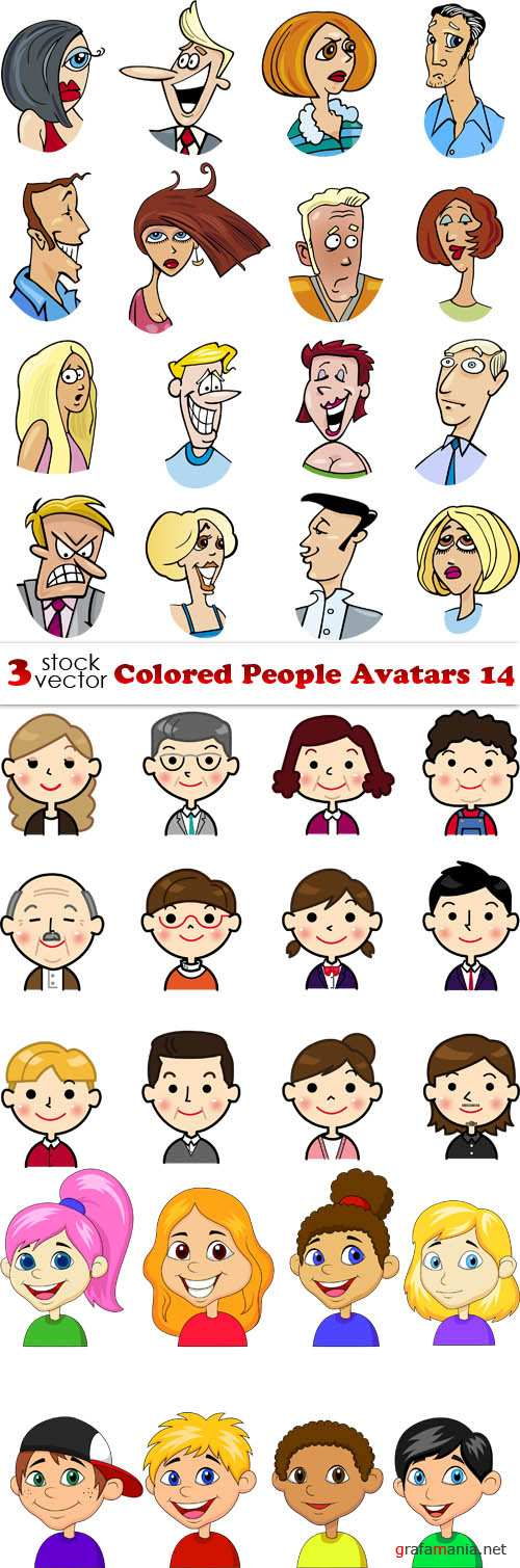 Vectors - Colored People Avatars 14