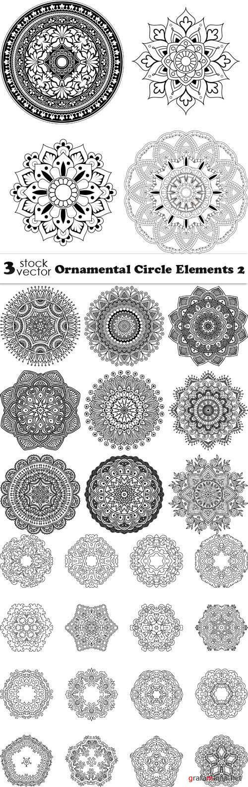 Vectors - Ornamental Circle Elements 2