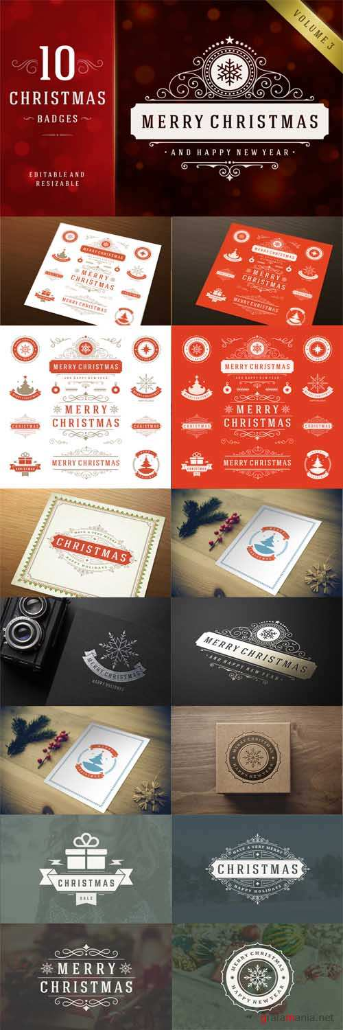 10 Christmas labels and badges - 390262