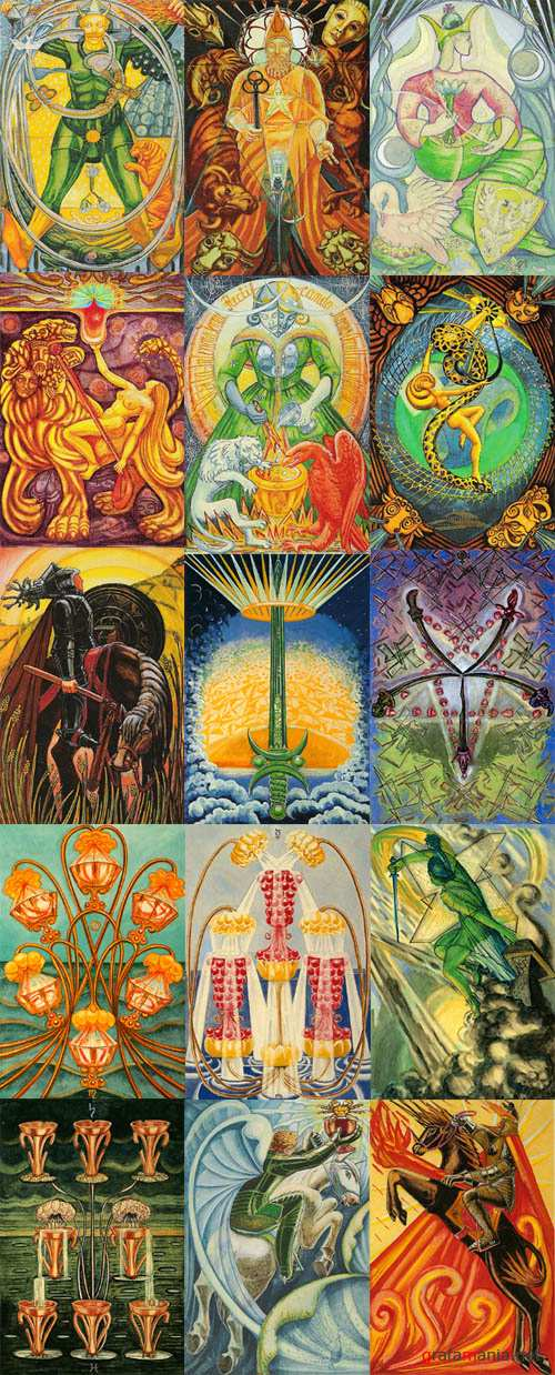 Thoth Tarot deck by Aleister Crowley & Frieda Harris