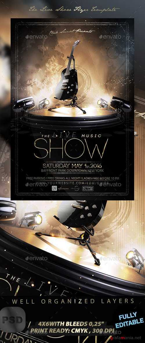 The Live Show Flyer Template - 12343034