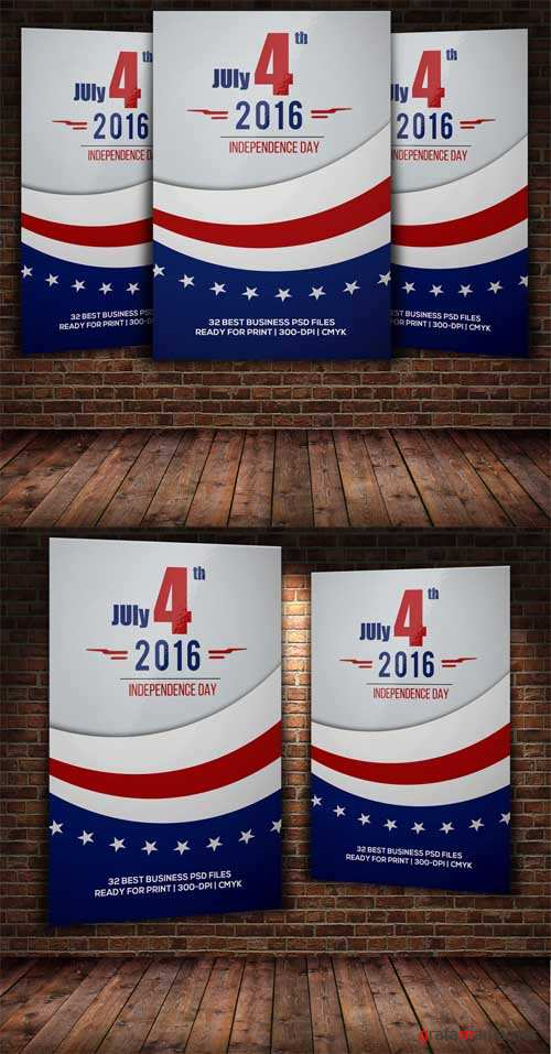 Independence Day 4th July Flyer - 493865