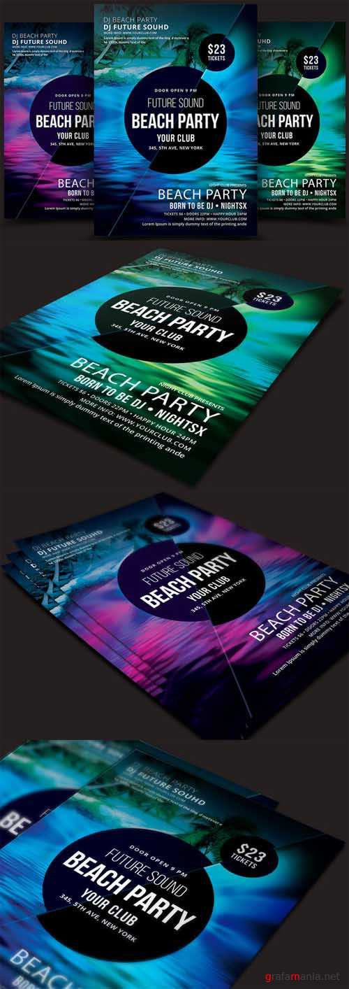 Beach Party Flyer - 537221