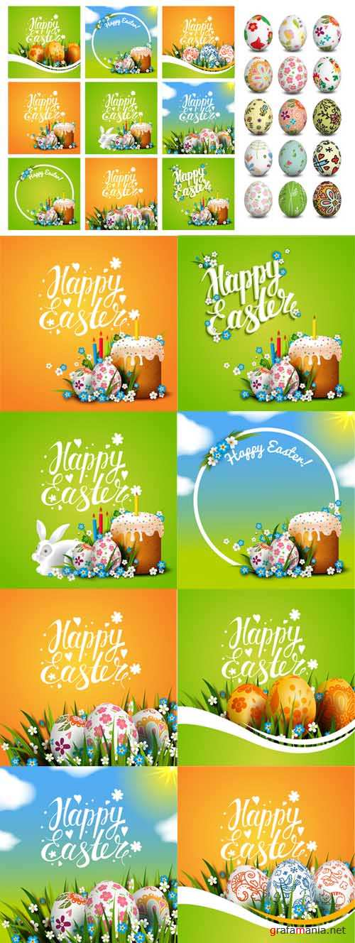 Easter greeting card templates - 558467