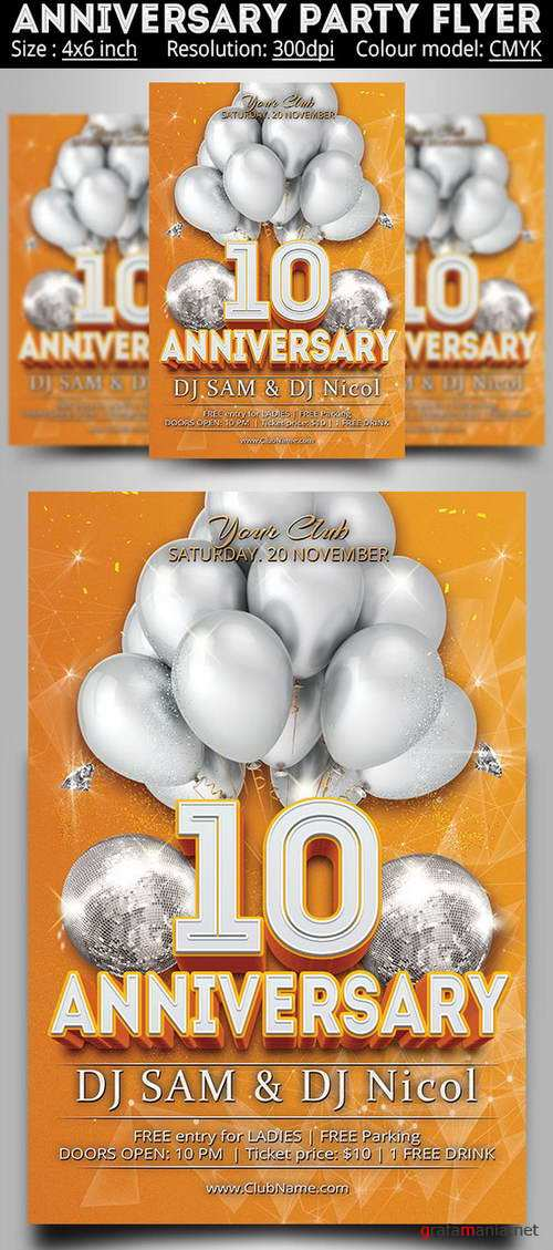 Anniversary Party Flyer - 561449