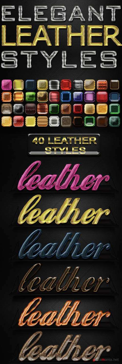 40 Elegant Leather Photoshop Styles - 15117447