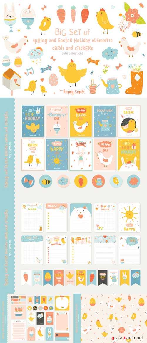Cute Spring and Easter holiday set - 565634