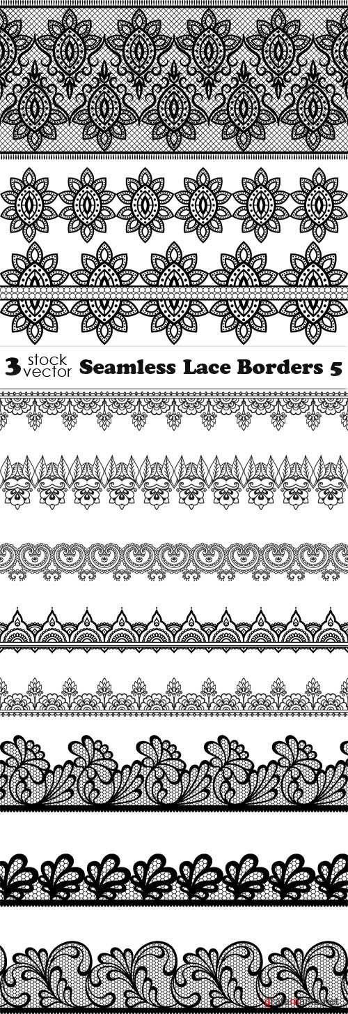 Vectors - Seamless Lace Borders 5