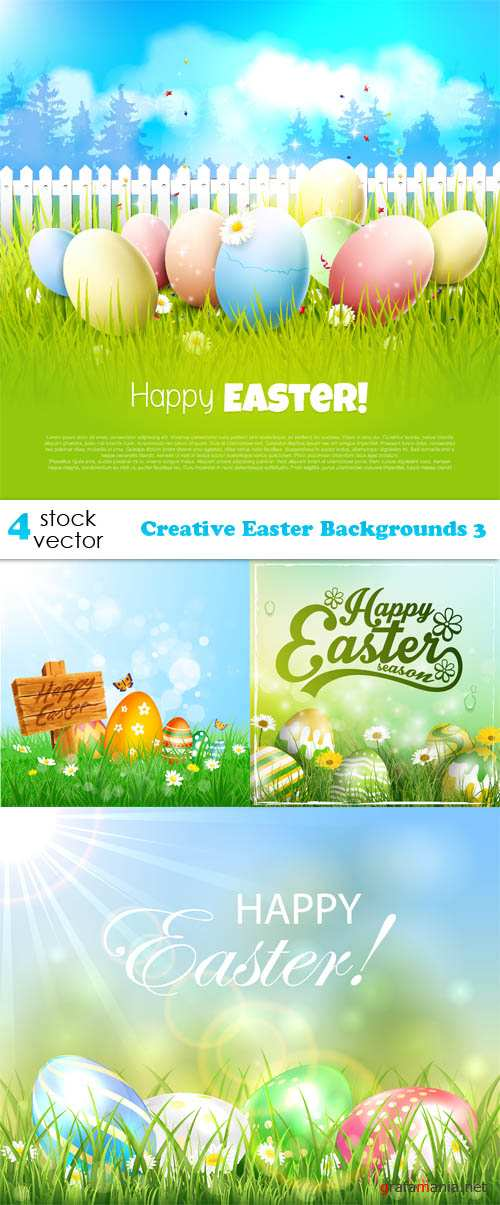 Vectors - Creative Easter Backgrounds 3