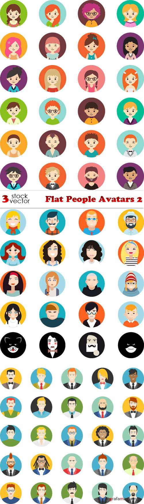 Vectors - Flat People Avatars 2