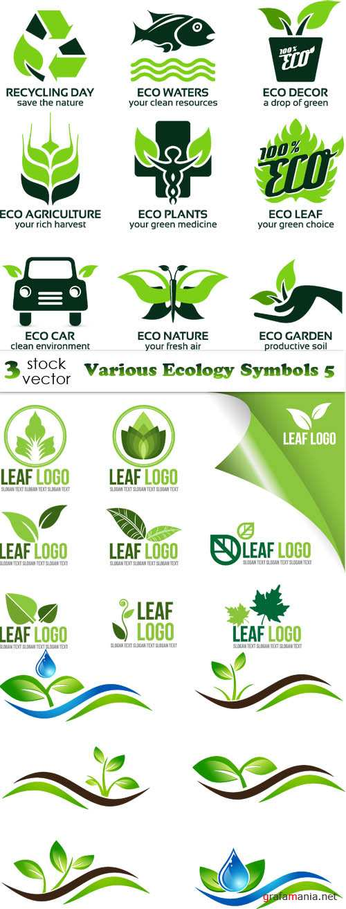 Vectors - Various Ecology Symbols 5