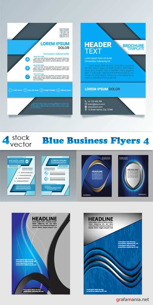 Vectors - Blue Business Flyers 4