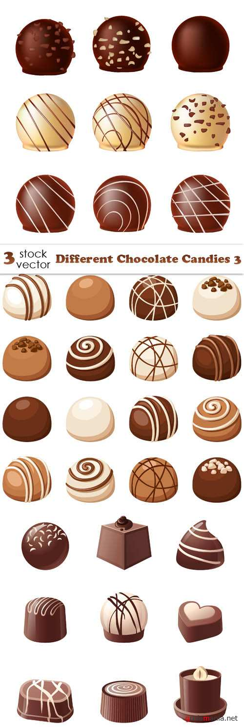 Vectors - Different Chocolate Candies 3