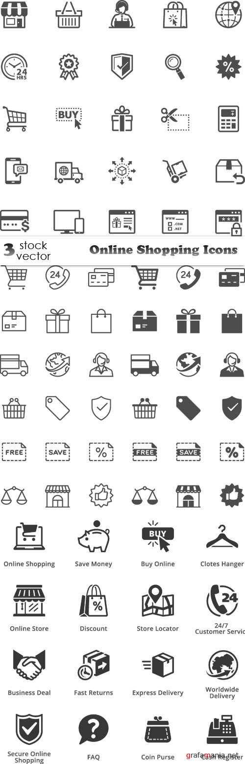 Vectors - Online Shopping Icons