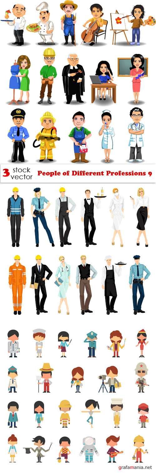 Vectors - People of Different Professions 9