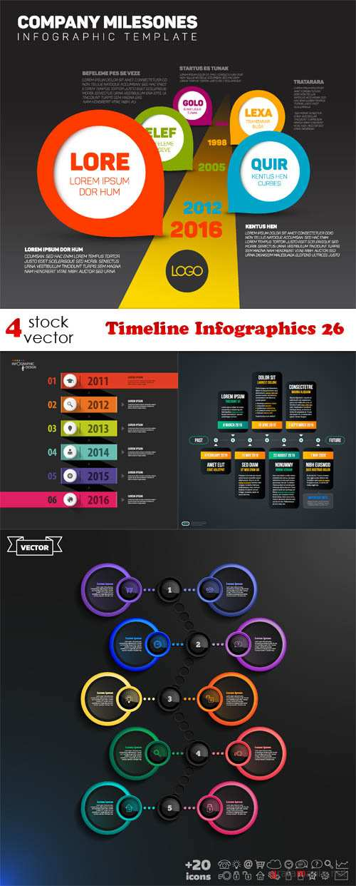 Timeline infographic ai