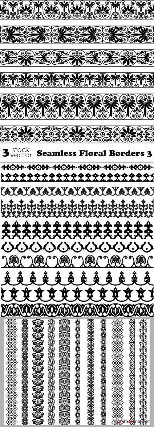Vectors - Seamless Floral Borders 3