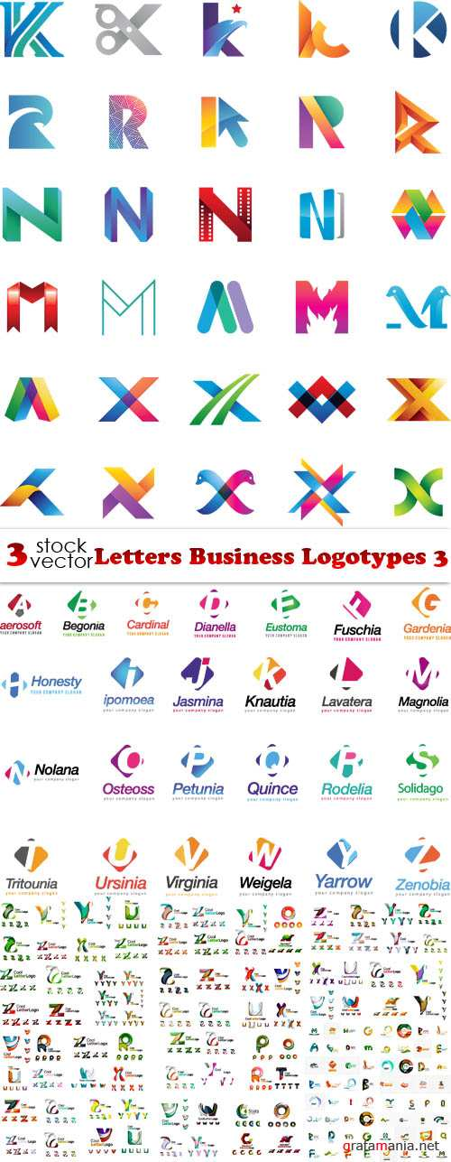 Vectors - Letters Business Logotypes 3