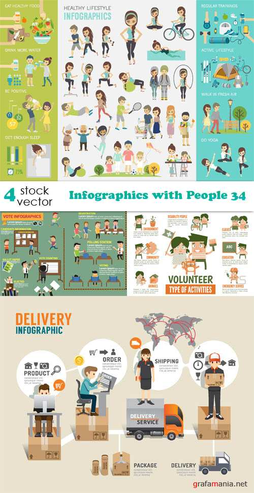 Vectors - Infographics with People 34