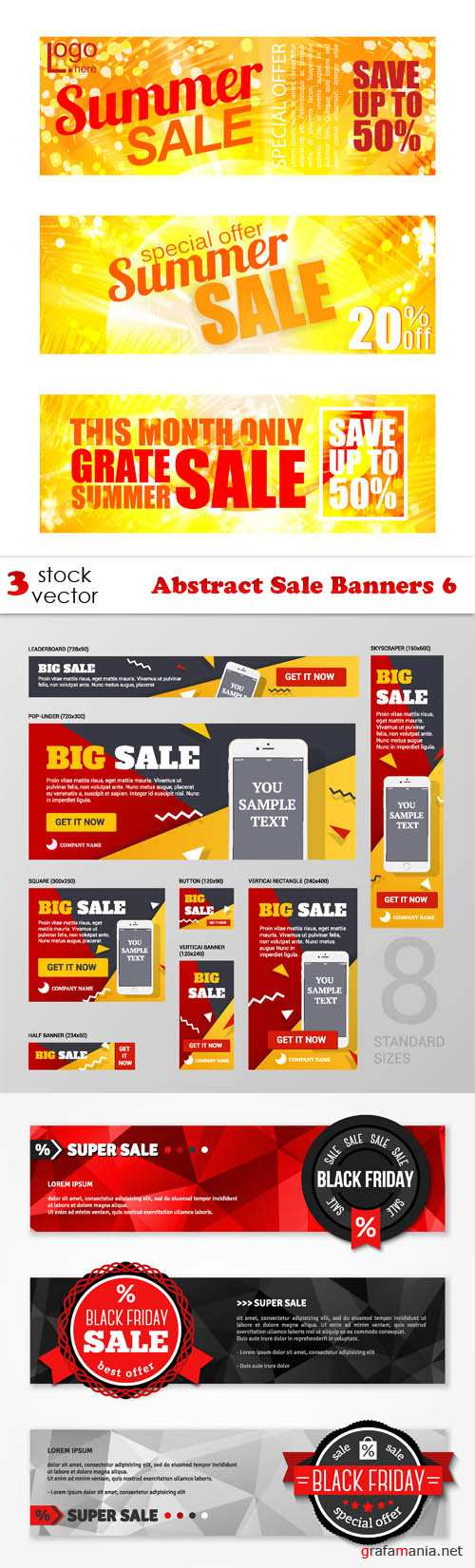 Vectors - Abstract Sale Banners 6