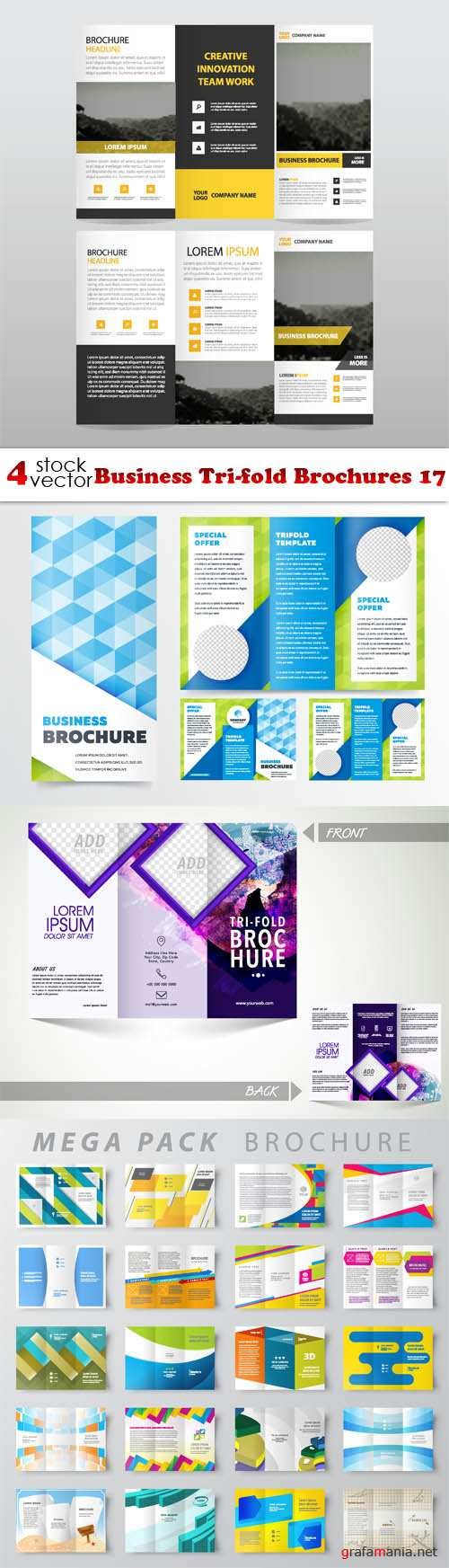 Vectors - Business Tri-fold Brochures 17