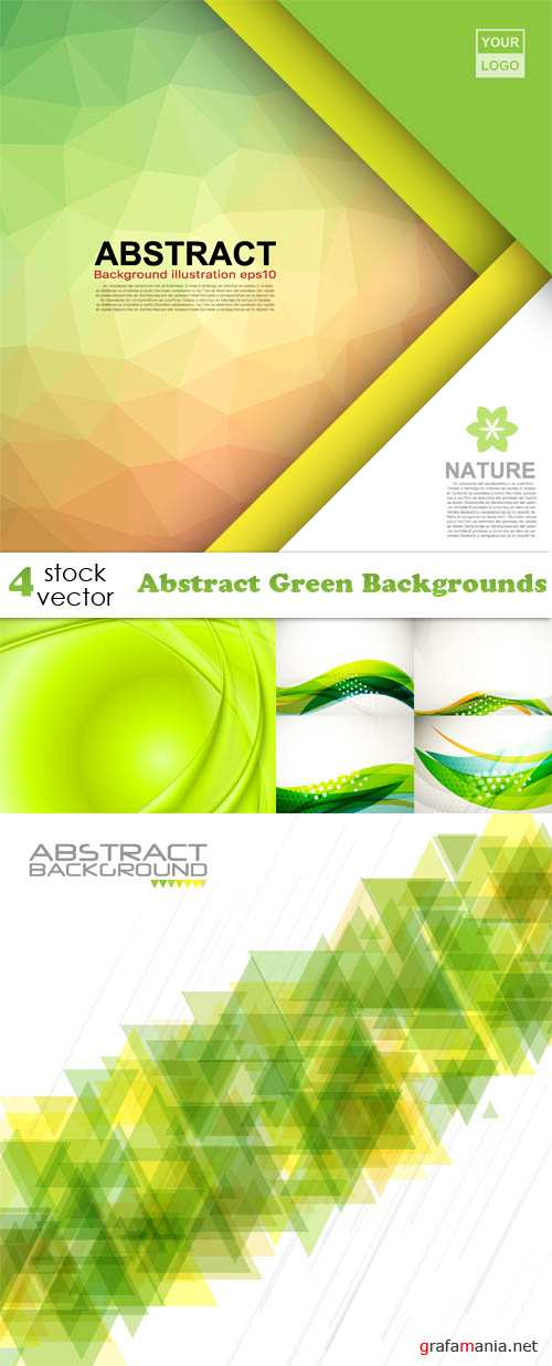 Vectors - Abstract Green Backgrounds
