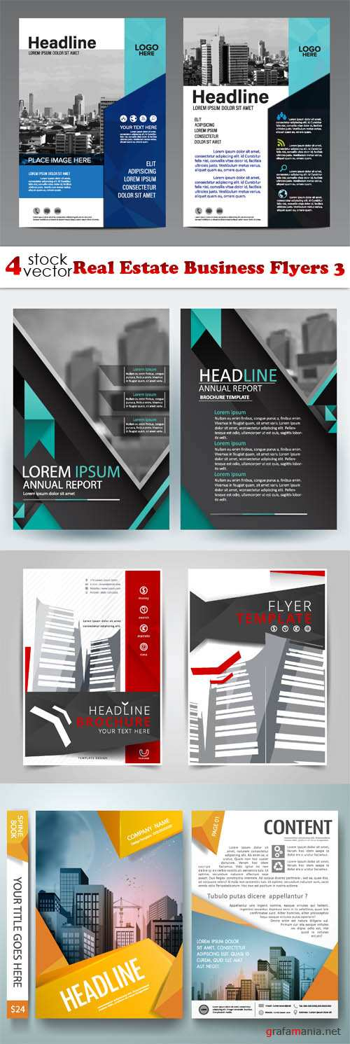 Vectors - Real Estate Business Flyers 3