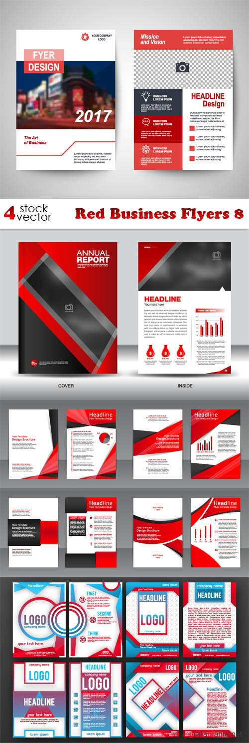 Vectors - Red Business Flyers 8