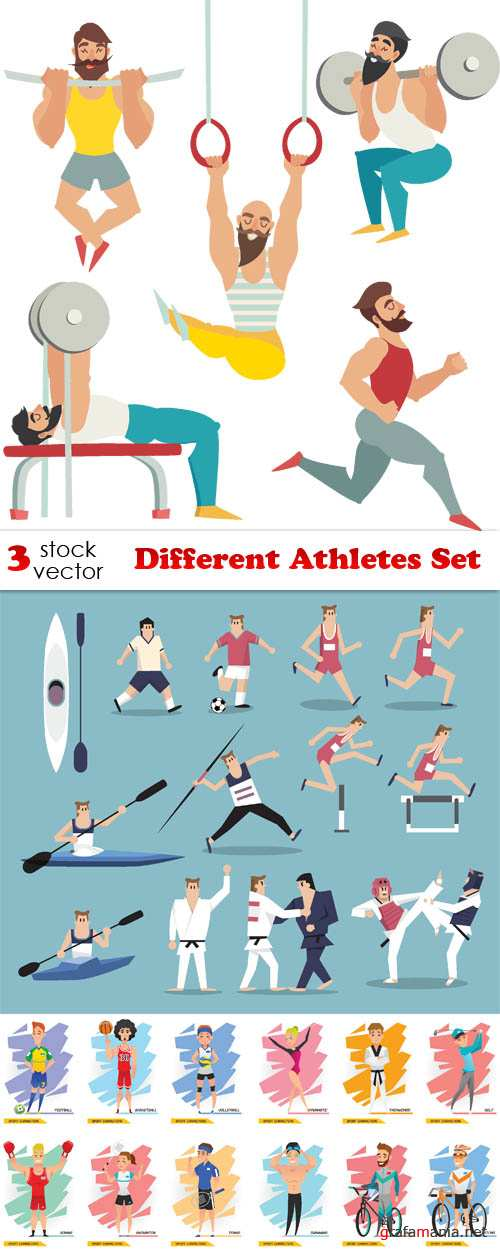 Vectors - Different Athletes Set