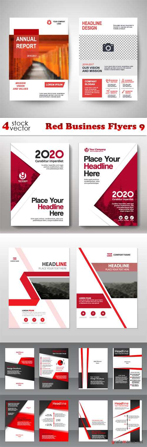 Vectors - Red Business Flyers 9