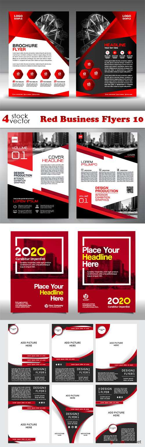 Vectors - Red Business Flyers 10