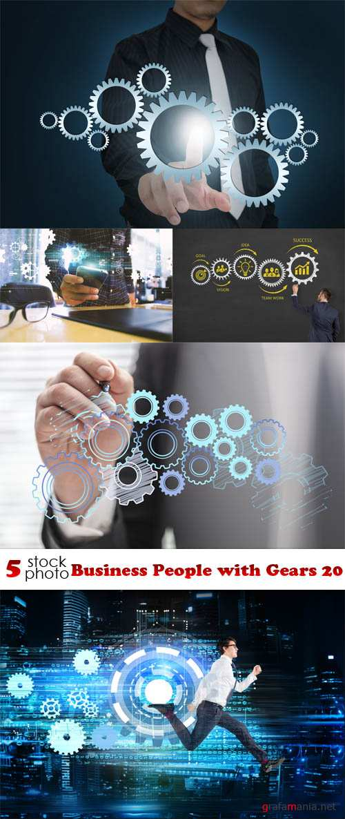 Photos - Business People with Gears 20