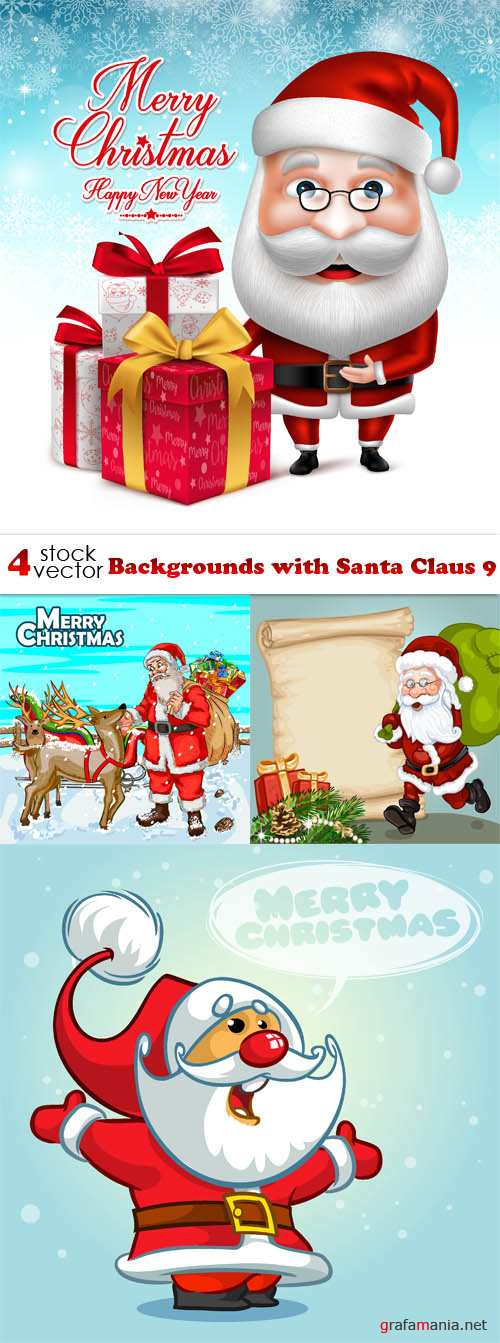 Vectors - Backgrounds with Santa Claus 9