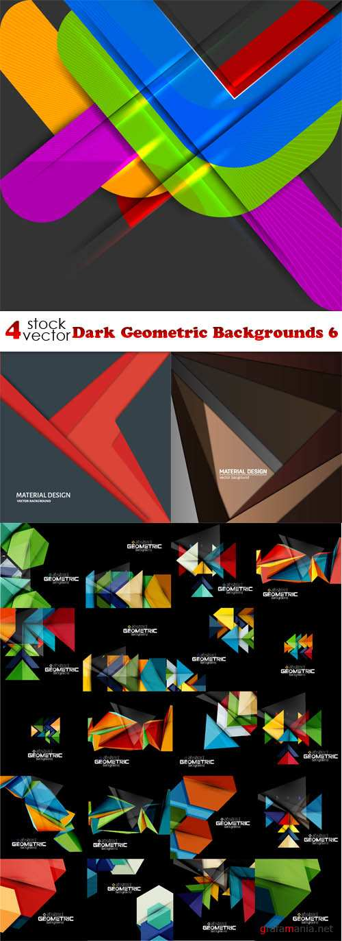 Vectors - Dark Geometric Backgrounds 6