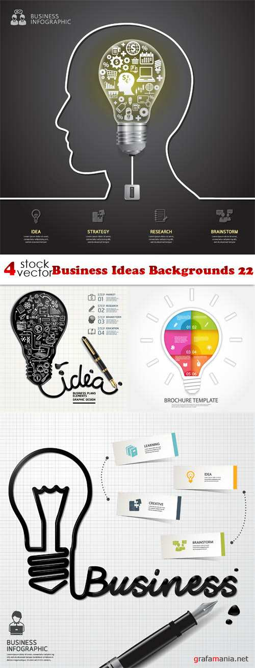 Vectors - Business Ideas Backgrounds 22