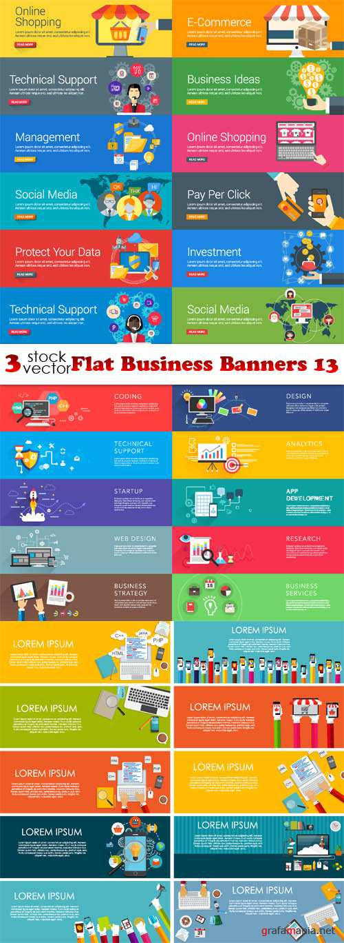 Vectors - Flat Business Banners 13