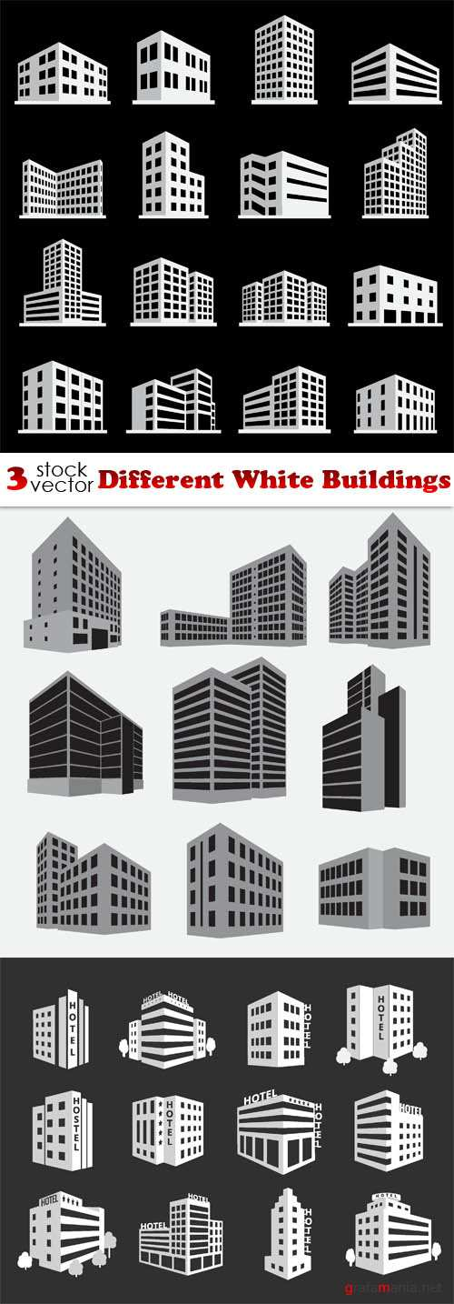 Vectors - Different White Buildings