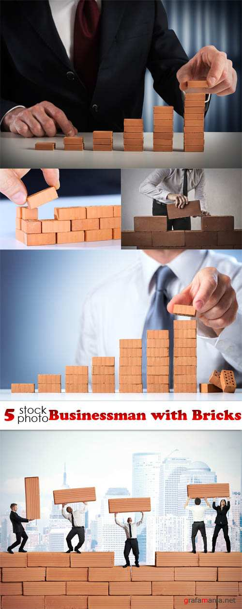 Photos - Businessman with Bricks