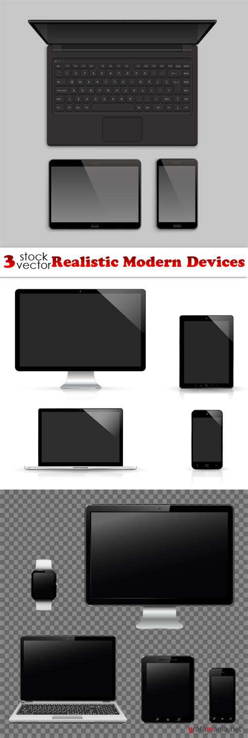 Vectors - Realistic Modern Devices