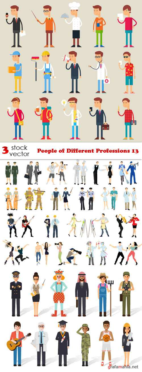 Vectors - People of Different Professions 13