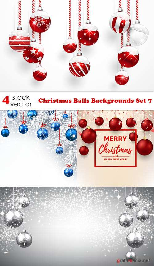 Vectors - Christmas Balls Backgrounds Set 7