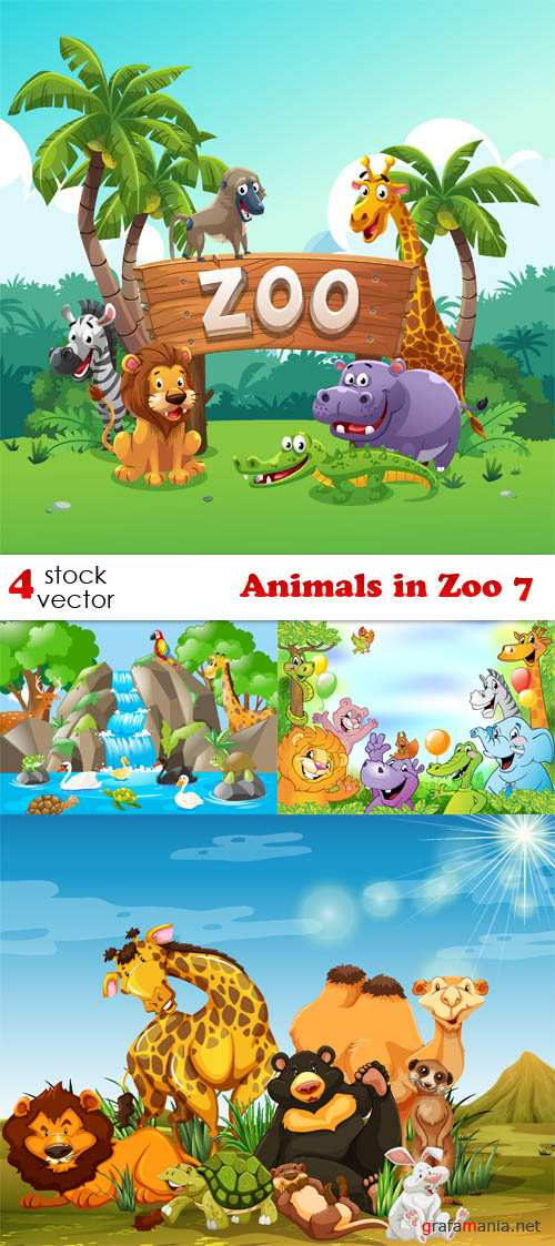 Vectors - Animals in Zoo 7