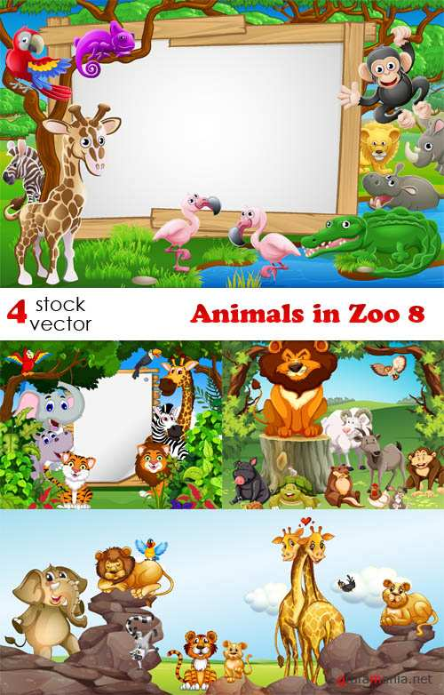 Vectors - Animals in Zoo 8