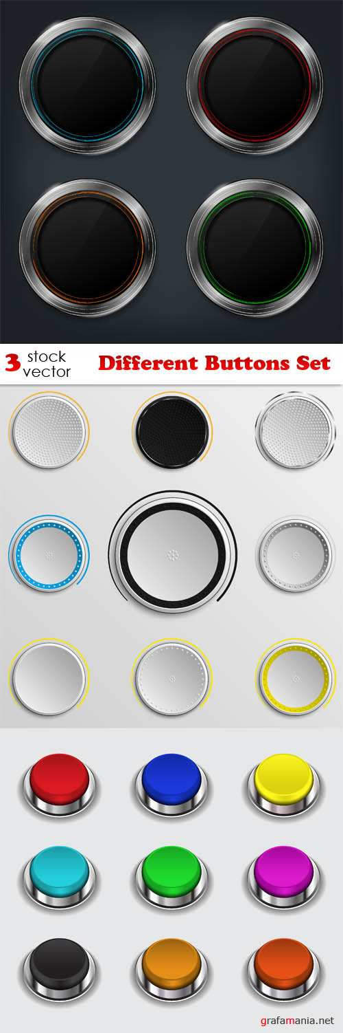 Vectors - Different Buttons Set