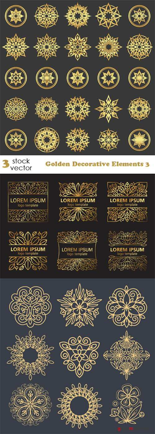 Vectors - Golden Decorative Elements 3