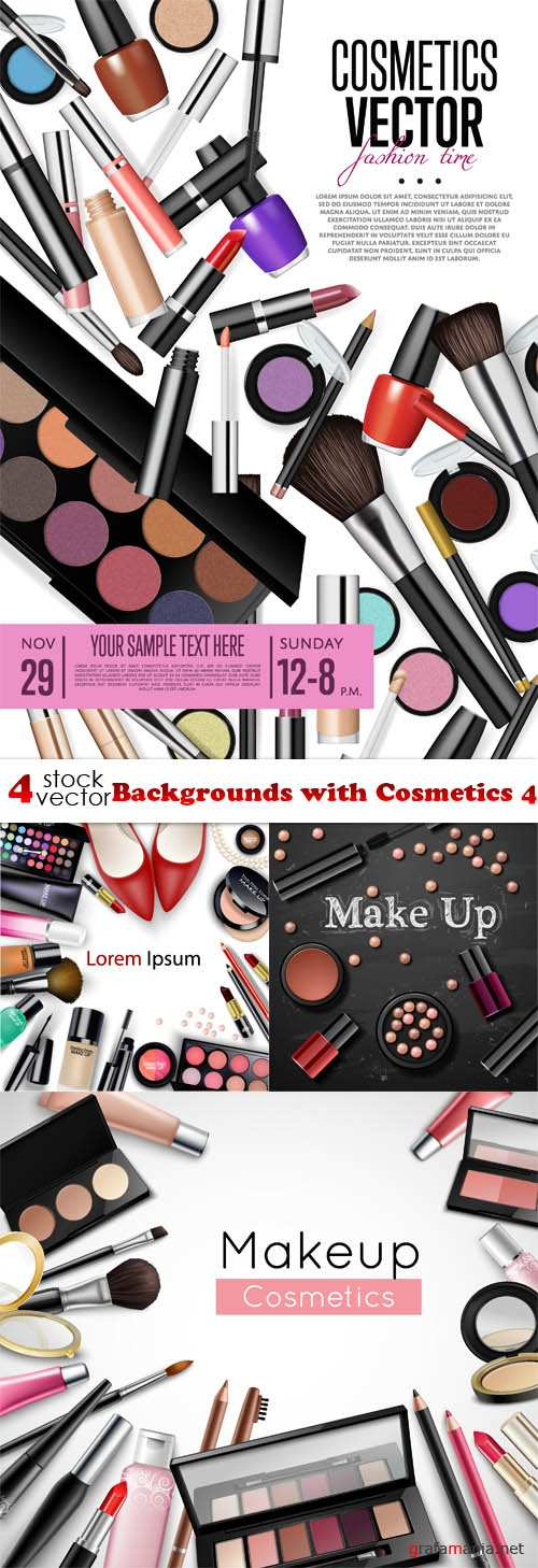 Vectors - Backgrounds with Cosmetics 4