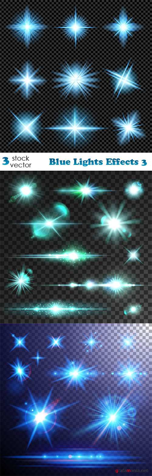 Vectors - Blue Lights Effects 3