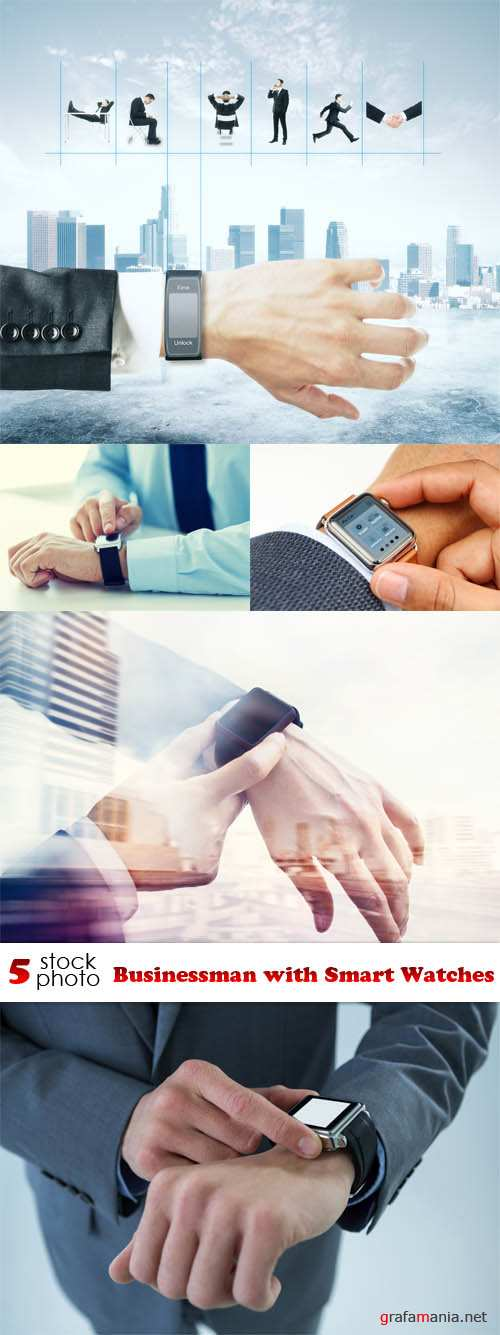 Photos - Businessman with Smart Watches
