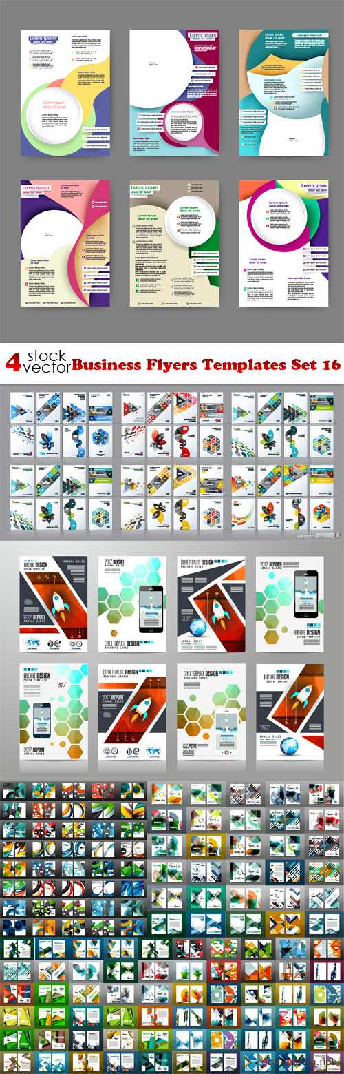 Vectors - Business Flyers Templates Set 16